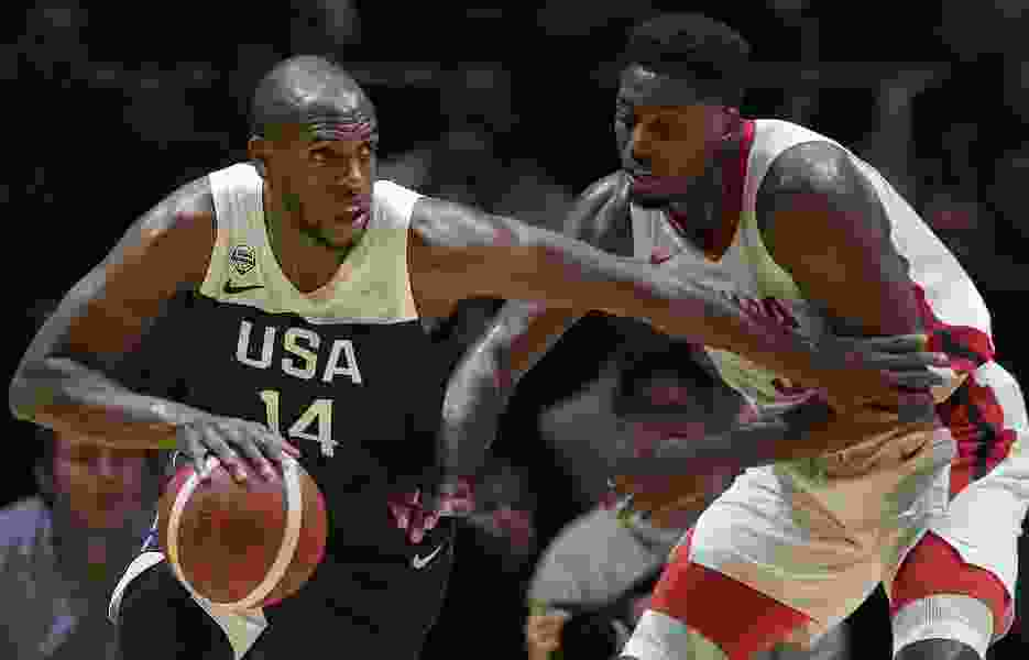 Team USA puts on a show — including a Donovan Mitchell buzzer-beating alley-oop — in final World Cup warmup game