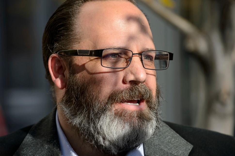 (Steve Griffin | The Salt Lake Tribune) Former real estate guru Rick Koerber stands outside the Federal Courthouse in Salt Lake City, as he talks with the media, after a federal jury announced they were deadlocked over the allegations against him. Koerber was accused of illegal business dealings and running a Ponzi scheme. U.S. District Court David Nuffer declared a mistrial in Salt Lake City Monday October 16, 2017.