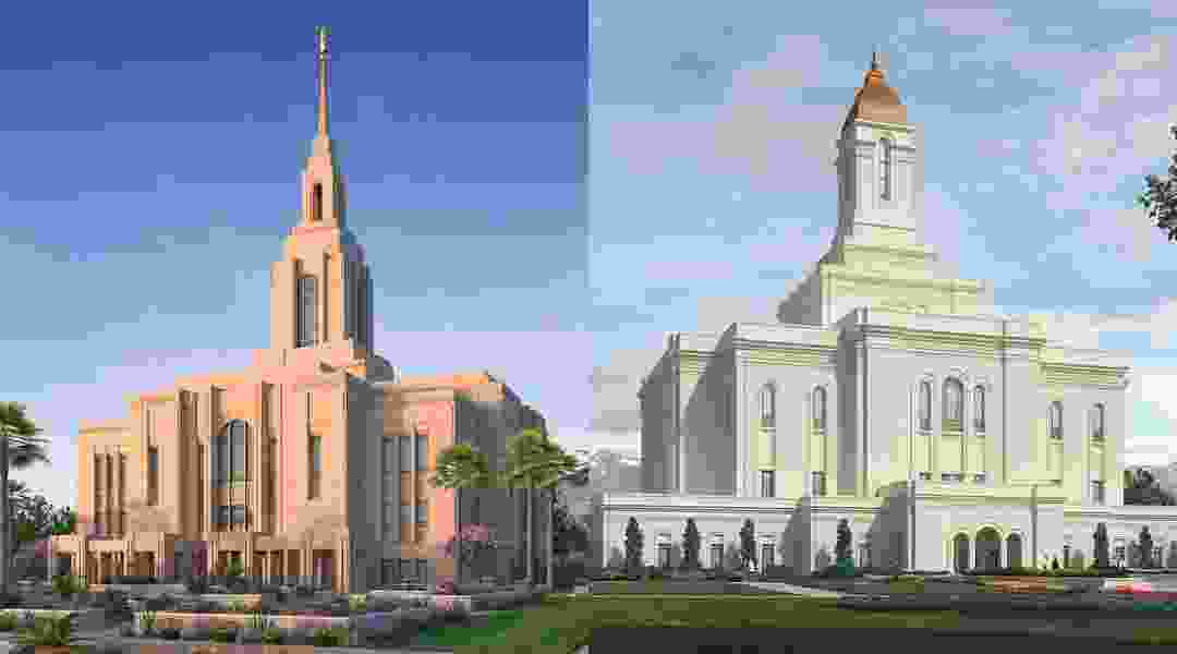 Here's what two new Utah Latter-day Saint temples will look like