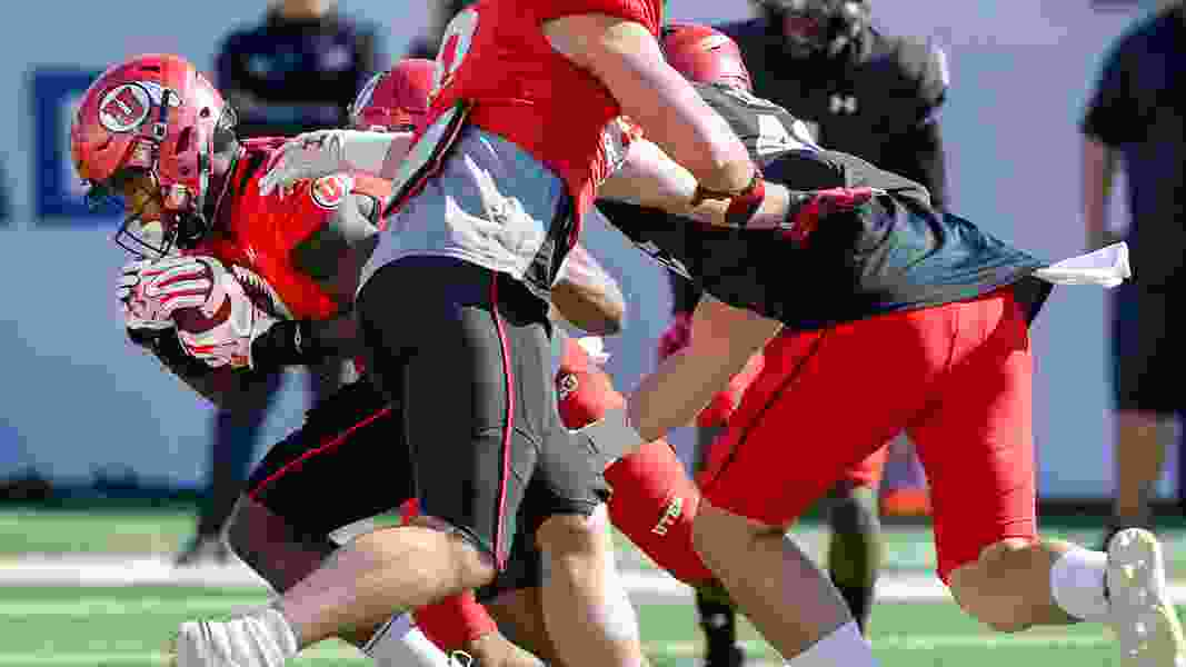 Utes' offensive line shows improvement in the second big scrimmage of spring football