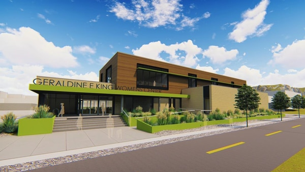 A rendering of the Geraldine E. King Women's Resource Center, to be built on 700 South in Salt Lake City. Ground was broken on the project on May 7, 2018, for a planned opening in July 2019.