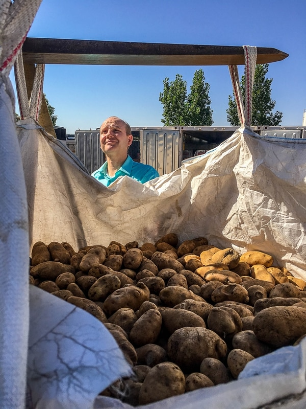 Trent Nelson   The Salt Lake Tribune Gabriel Owen delivers three tons of potatoes to members of the FLDS polygamous sect in Colorado City, Saturday July 15, 2017. Owen and the Davis County Cooperative Society have been offering service and donations to needy FLDS members who were evicted from UEP homes in Hildale and Colorado City, Ariz.