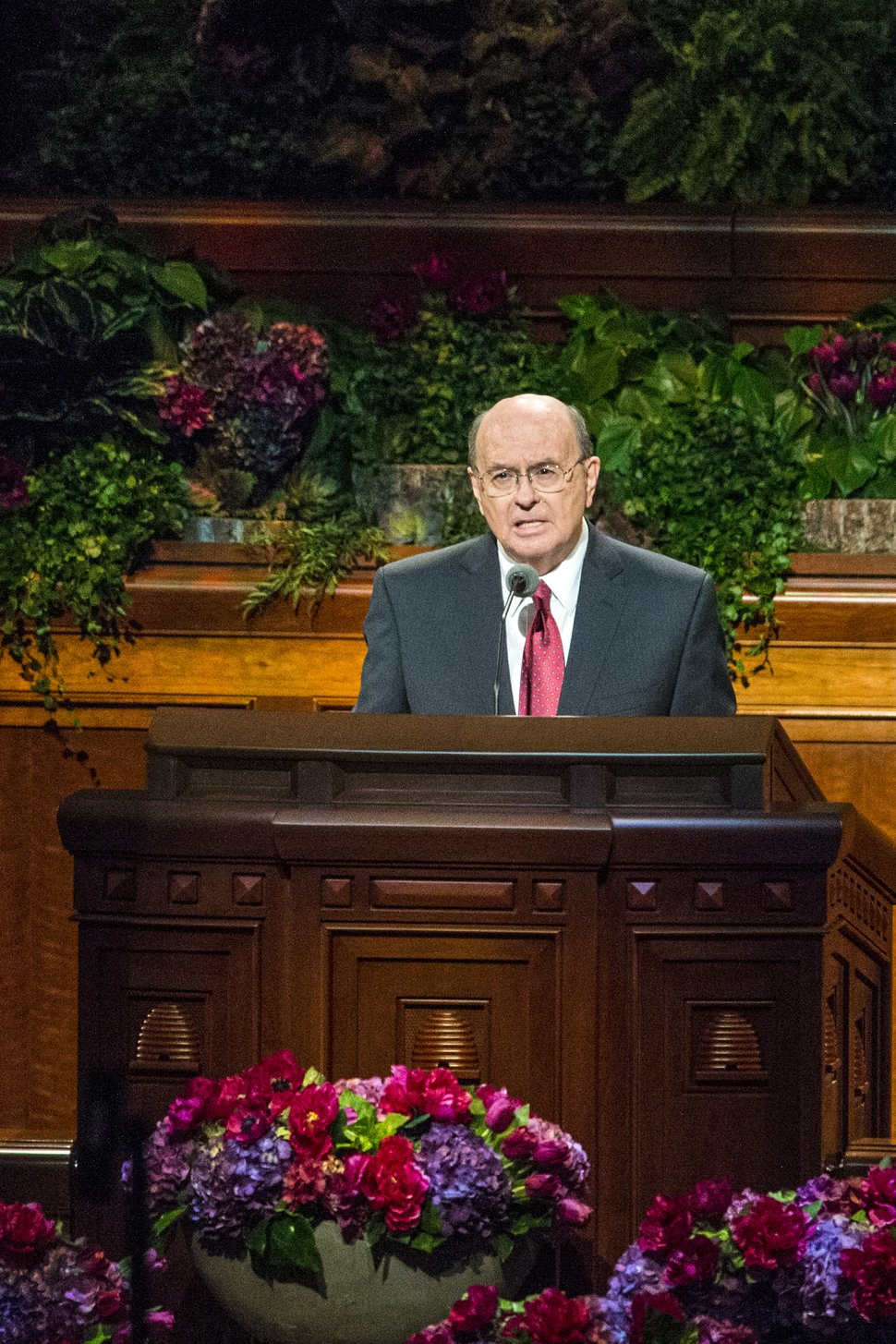 Chris Detrick   The Salt Lake Tribune Quentin L. Cook, Quorum of the Twelve Apostles, speaks during morning session of the 185th LDS General Conference at the Conference Center in Salt Lake City Saturday October 3, 2015.