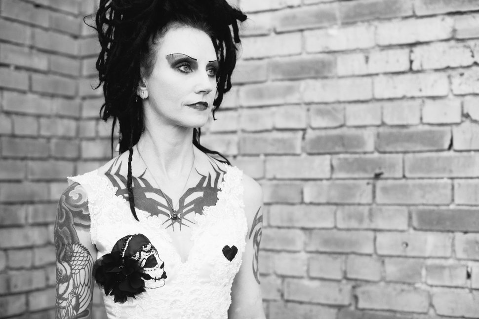(Photo courtesy of Sarah Knight Photography) Cinamon Hadley, an influential figure in Salt Lake City's goth scene and the visual inspiration for the character Death of the Endless, from DC Comics'