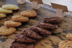 (Leah Hogsten  |  The Salt Lake Tribune) Streusel SLC cookies at their ComCom Kitchen store front.