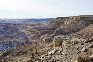 (Zak Podmore | The Salt Lake Tribune) Looking west from a parcel of Utah School and Institutional Trust Lands Administration (SITLA) that was recently leased to an oil and gas company in San Juan County. Four parcels that sold in an October lease sale overlapped with the original boundaries of Bears Ears National Monument, which President-elect Joe Biden has promised to restore. December 16, 2020.