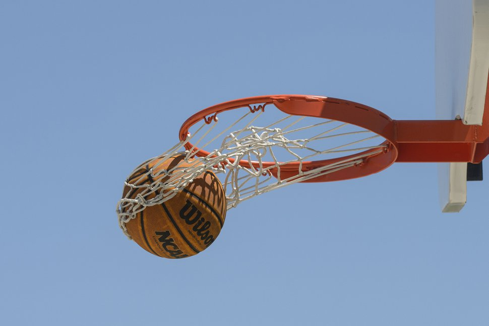 (Andrew Lahodynskyj | The Canadian Press via AP file photo) A basketball hoop is seen at a public court near the Jimmie Simpson Recreation Centre in Toronto on Thursday, June 27, 2019. Utah's Supreme Court says a basketball player in an LDS ward game can't sue his competitor over a knee injury.