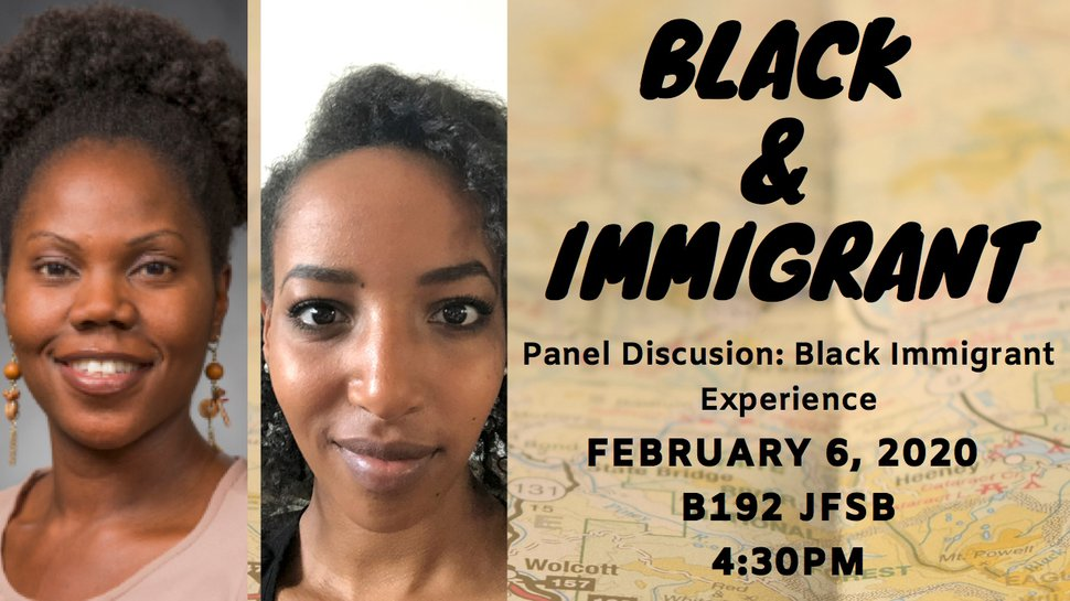 (Courtesy of Brigham Young University) A poster for the black immigrant experience panel held at BYU on Thursday, Feb. 6, 2020.