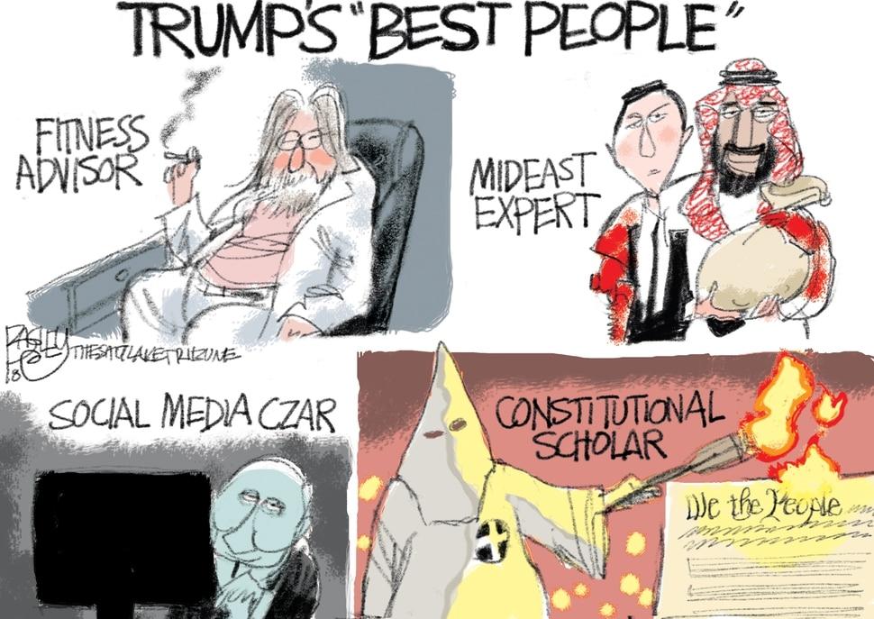 (Pat Bagley | The Salt Lake Tribune) This cartoon by Pat Bagley is published in The Salt Lake Tribune on Thursday. Nov. 1, 2018.