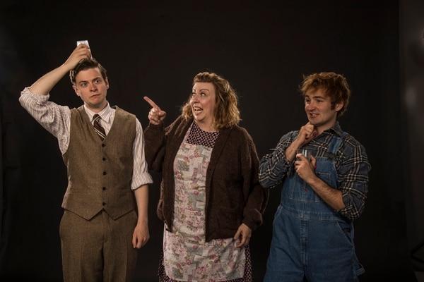 "(Photo courtesy Karl Hugh/Utah Shakespeare Festival) Michael Doherty (left) as Charlie Baker, Colleen Baum as Betty Meeks and Rob Riordan as Ellard Simms in the Utah Shakespeare Festival's 2018 production of ""The Foreigner."""