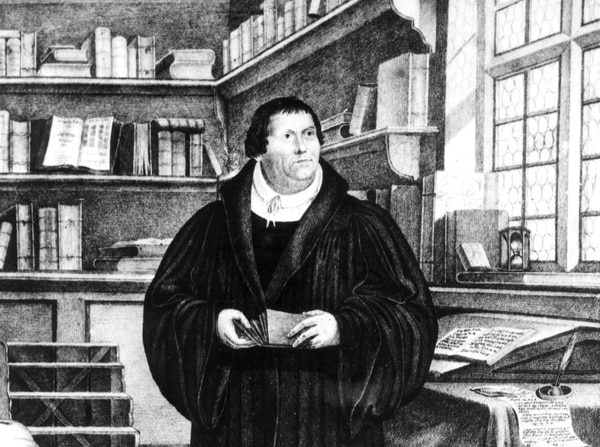 (AP-Photo/HO) Martin Luther provided the intellectual underpinning for the Reformation. This picture shows him in his study.