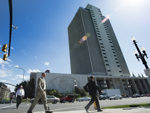 (Rick Egan     The Salt Lake Tribune) The LDS Church Office Building, shown in 2017. A new scholarly work examine the legal legacy of The Church of Jesus Christ of Latter-day Saints as a corporate entity.