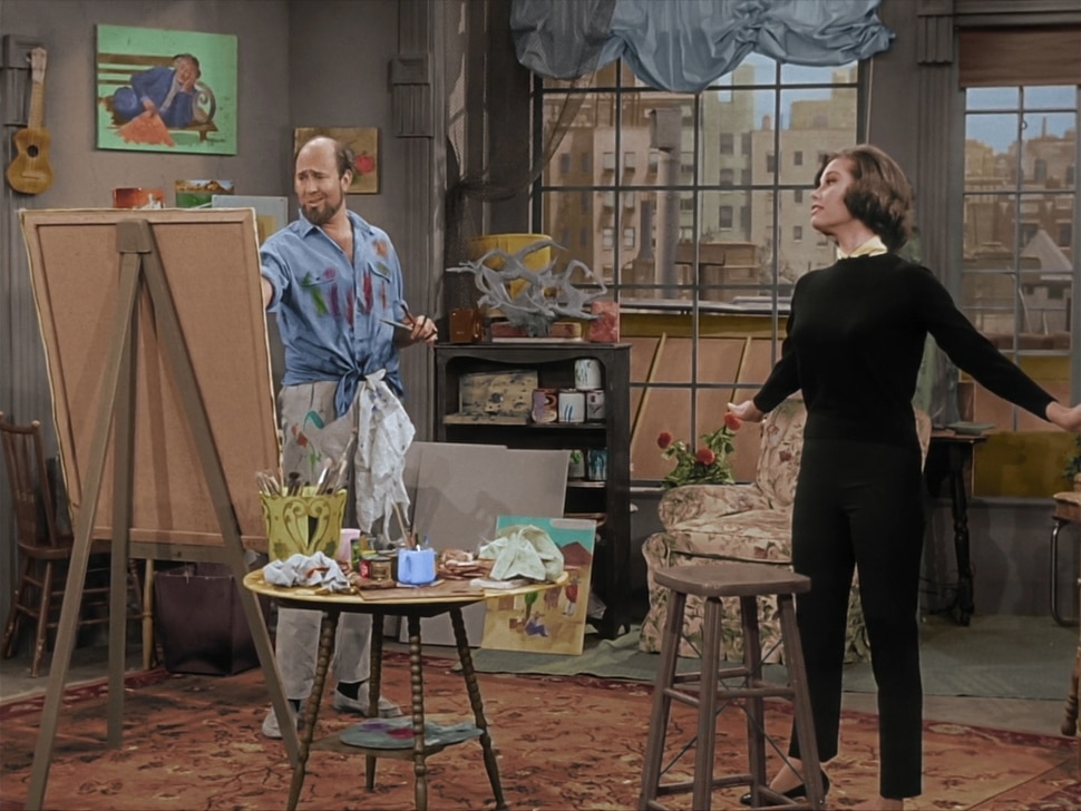 """(Photo courtesy CBS) Carl Reiner and Mary Tyler Moore in the """"October Eve"""" episode of """"The Dick Van Dyke Show."""""""