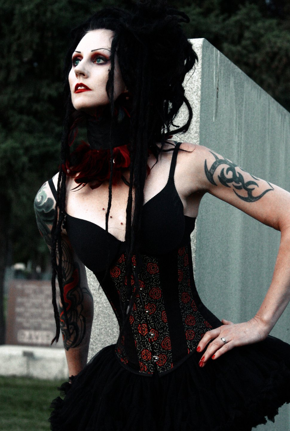 (Photo courtesy of Jeff Carlisle) Cinamon Hadley, an influential figure in Salt Lake City's goth scene and the visual inspiration for the character Death of the Endless, from DC Comics'