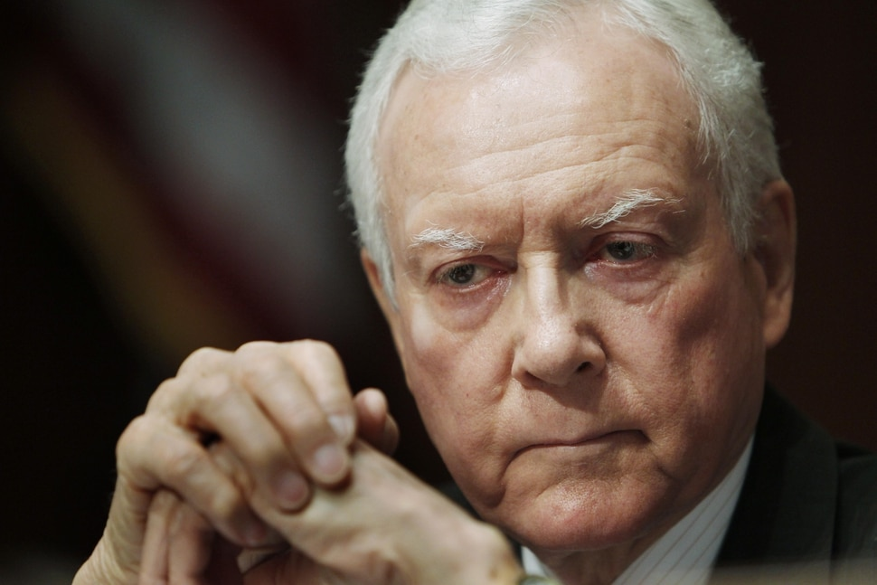 FILE - In this April 16, 2010, file photo Senate Judiciary Committee member Sen. Orrin Hatch, R-Utah, listens on Capitol Hill in Washington. On Monday, June 28, the committee convenes to consider giving President Barack Obama's Supreme Court nominee, Elena Kagan, a lifetime appointment as a justice. Hatch has twice served as committee chairman and participated in hearings for 13 high court nominees, beginning with O'Connor. (AP Photo/Charles Dharapak, File)