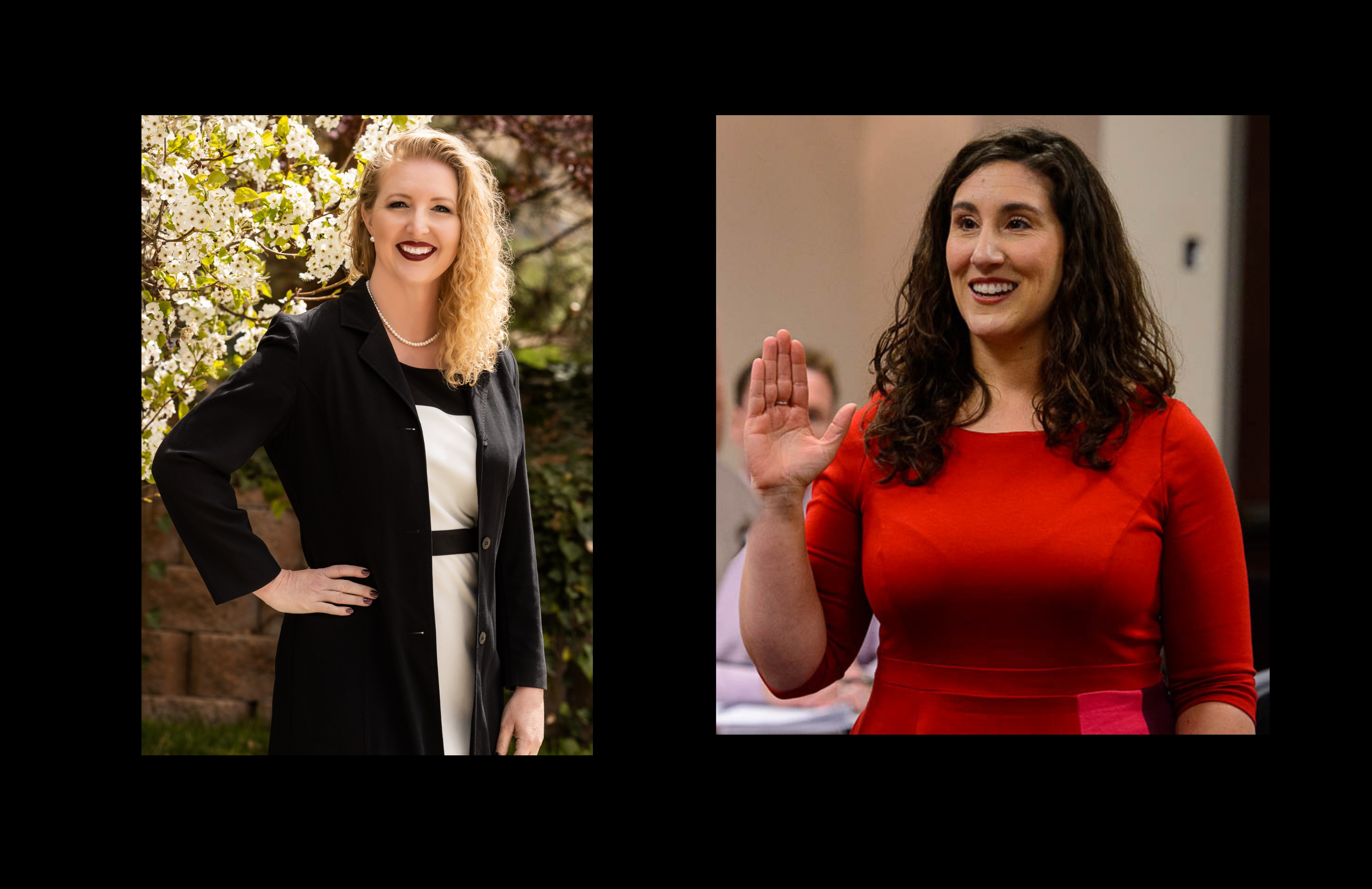 (Tribune file photos) Laurie Stringham, left, and Salt Lake County Council member Shireen Ghorbani.