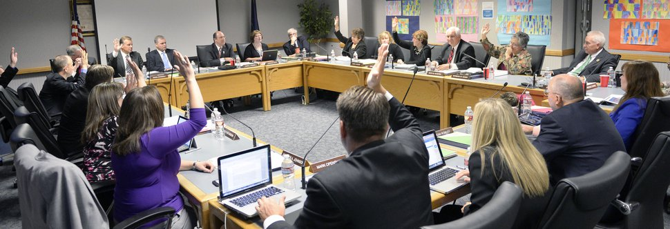 (Al Hartmann | Tribune File Photo) Members of the Utah Board of Education vote to appoint a new state superintendent in 2014.