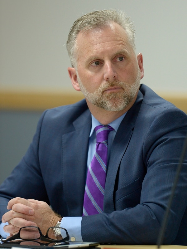Leah Hogsten | The Salt Lake Tribune Bret Millburn and fellow members of the Utah Transit Authority Board discussed logistics of the controversial UTA Clearfield land deal during their open meeting, Wednesday, April 26, 2017.