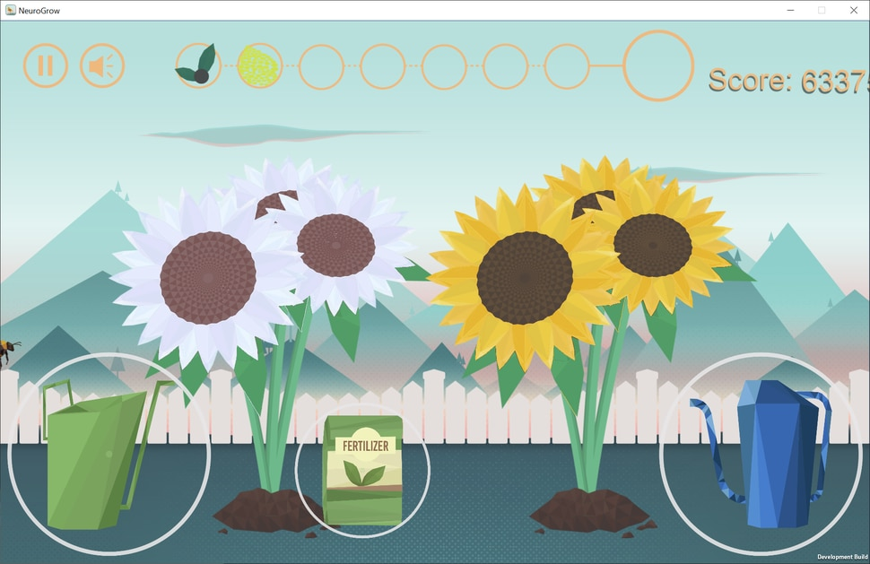(Courtesy of Sarah Shizuko Morimoto) Neurogrow, developed by Dr. Sarah Shizuko Morimoto at the University of Utah's Therapeutic Games and Apps Lab, is a video game designed to help older adults with depression through caring for a virtual garden.