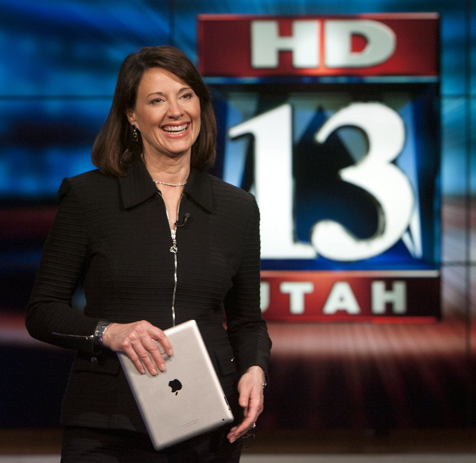 (Steve Griffin | The Salt Lake Tribune file photo) KSTU anchor Hope Woodside prepares for the 5 p.m. news at the KSTU studios in Salt Lake City on Feb. 26, 2013.