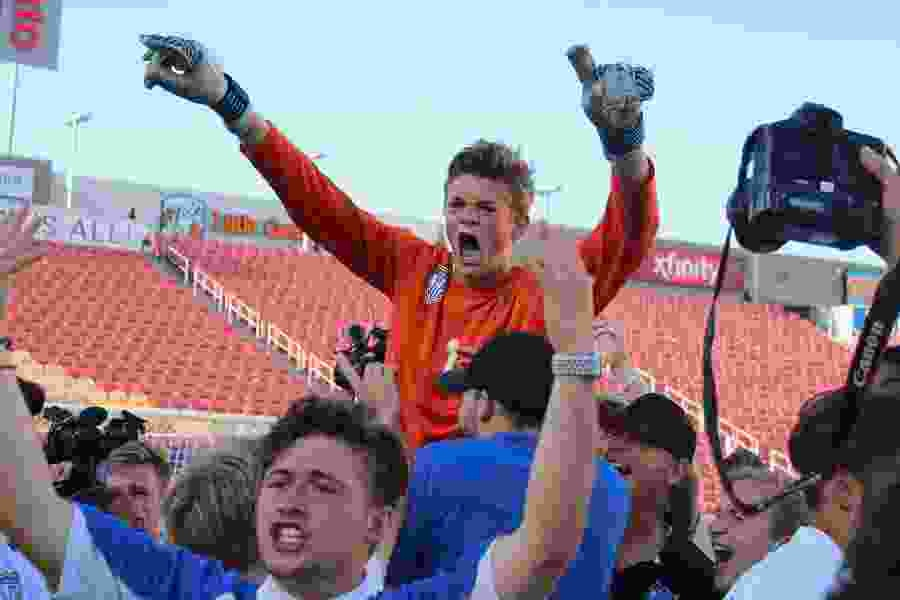 Pleasant Grove knocks off previously-unbeaten Herriman in PK's to win its first-ever boys' soccer title