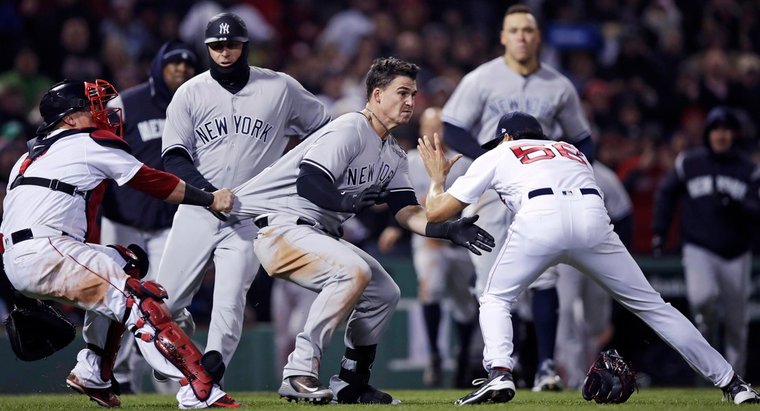 Stupendous Beantown Brawl Yankees Fight To 10 7 Win Over Red Sox The Onthecornerstone Fun Painted Chair Ideas Images Onthecornerstoneorg