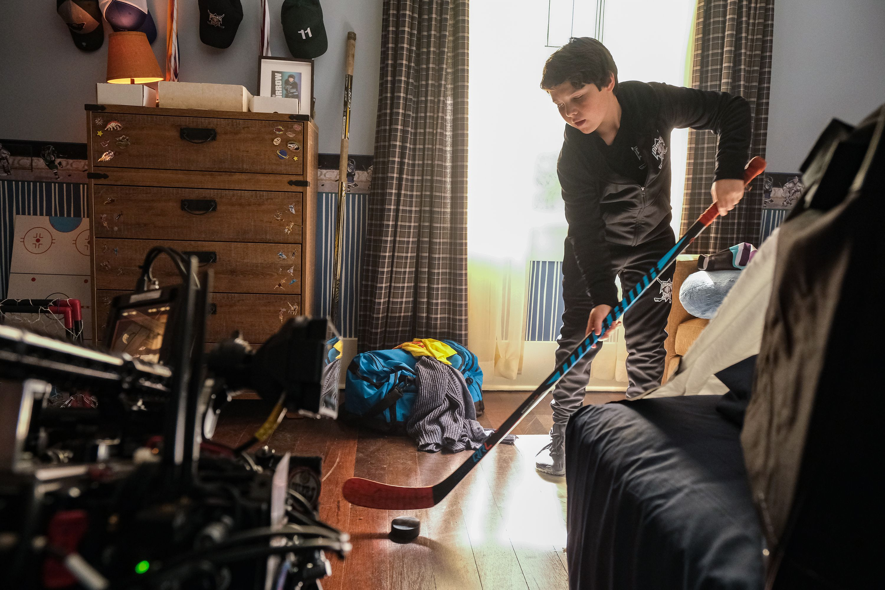 """(Photo courtesy of Liane Hentscher/ABC) Brady Noon as Evan in """"The Mighty Ducks: Game Changers."""""""
