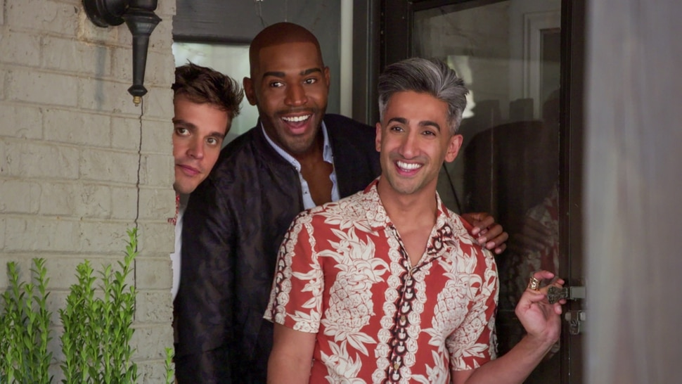 "(Photo courtesy of Netflix) Antoni Porowski, Karamo Brown and Tan France in an episode of ""Queer Eye."""