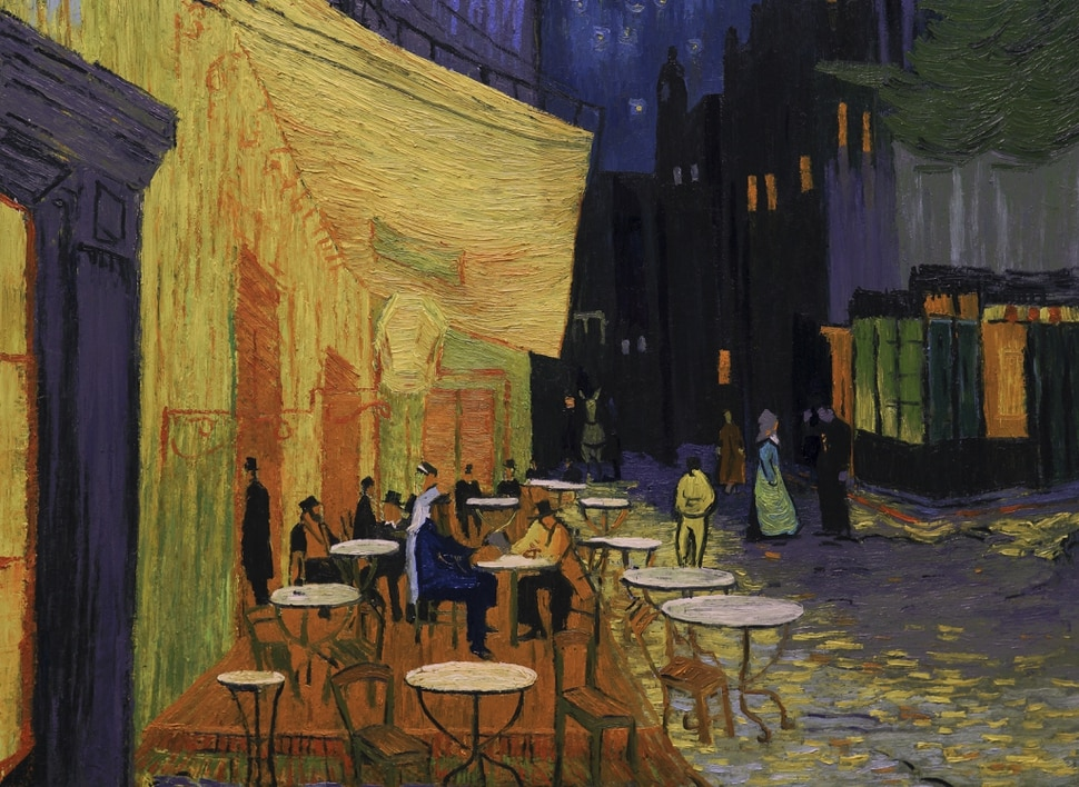 (Courtesy Good Deed Entertainment) The terrace of a cafe in Arles, one of the settings in the animated drama