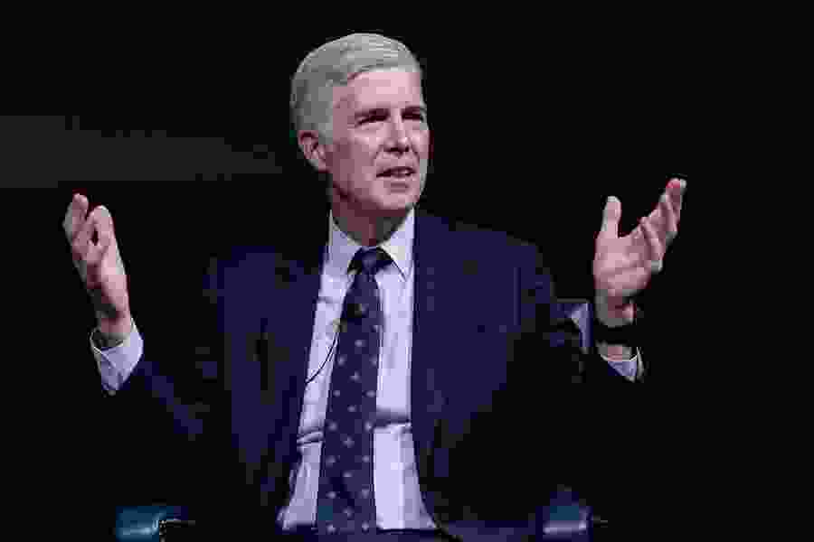 During BYU appearance, Justice Gorsuch rebuts the notion that judges are just 'like politicians with robes'