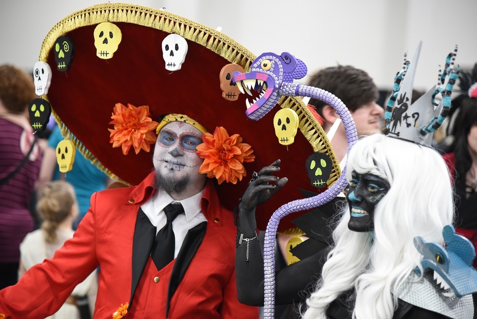 (Francisco Kjolseth | The Salt Lake Tribune) Eric and Trysten Molina of Orem as characters from The Book of Life attend the start of FanX Salt Lake Comic Convention at the Salt Palace in Salt Lake City Thursday, Sept. 6, 2018, during the three-day pop culture convention.