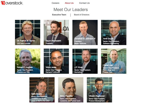 (Screenshot from Overstock.com) In a step toward changing that gender imbalance, Overstock.com has joined at least 27 other Utah-based companies in signing the ParityPledge — a vow to interview at least one qualified woman for all openings at the vice president level and higher, including the board of directors.