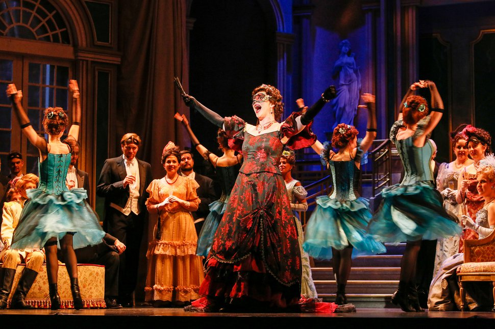 "(Courtesy photo by Kent Miles for Utah Opera) Utah Opera is ending its 40th-anniversary season with a big party, Johann Strauss Jr.'s bubbly operetta ""Die Fledermaus,"" with performances May 12-20 at the Capitol Theatre in Salt Lake City."