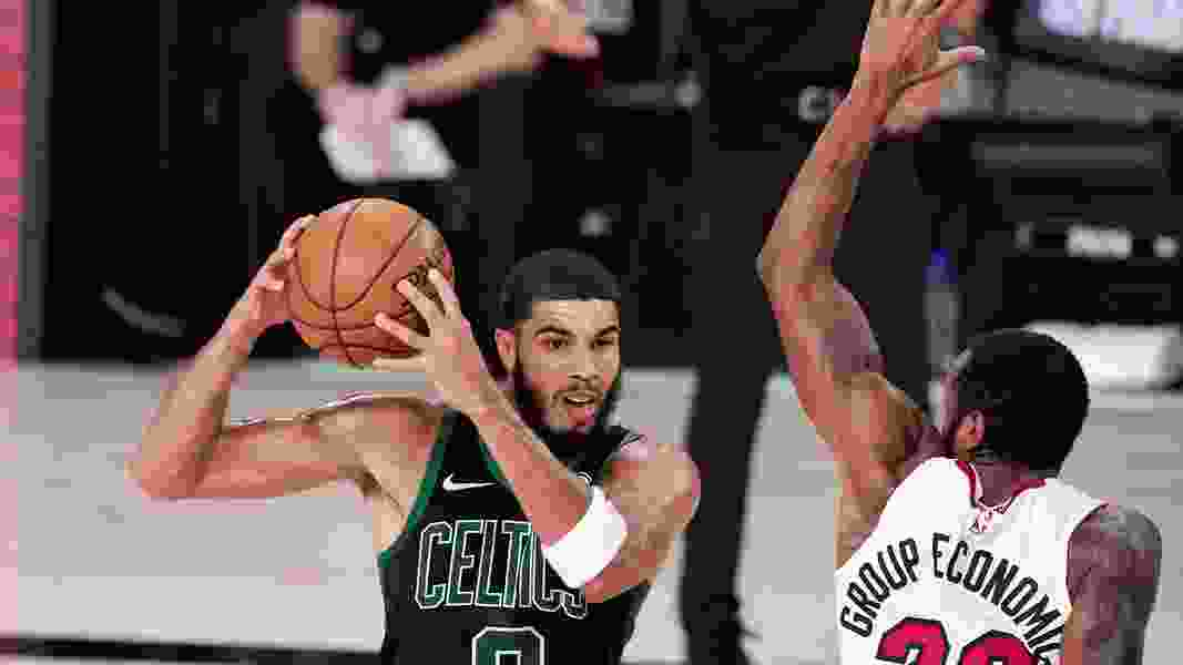 Celtics control second half, beat Heat 121-108 to stay afloat
