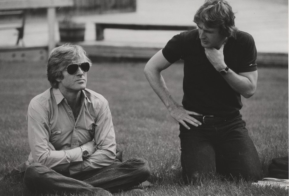 Robert Redford with Sterling Van Wagenen, first director of the Sundance Institute, in the early 1980s. Van Wagenen ended his association with Sundance in 1993, when he left the nonprofit's Utah Advisory Board.