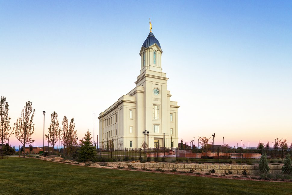 (Courtesy of the LDS Church) The Cedar City Utah Temple.