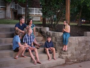 (Lindsay D'Addato   The New York Times) The Eichelberger family at home in Fruit Heights, Utah on June 9, 2020. Last summer Nathan, second from right, was bitten by a stray dog and needed a rabies shot. The family originally received an estimate that it would cost about $800 paying cash, but later received a surprise bill for over $2,000 more.