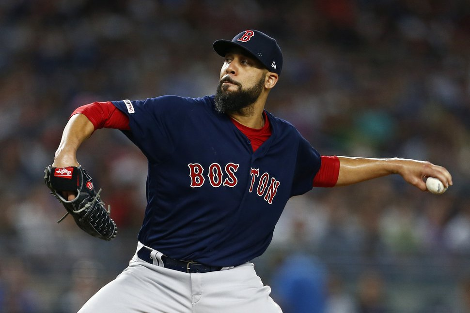 Boston Red Sox pitcher David Price delivers during the first inning of a baseball game against the New York Yankees, Sunday, Aug. 4, 2019, in New York. (AP Photo/Adam Hunger)