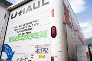 (Briana Scroggins   Special to The Tribune)  A Uhaul trailer with a California license plate is parked outside of the Uhaul rental location in Layton on Wednesday, June 23, 2021.