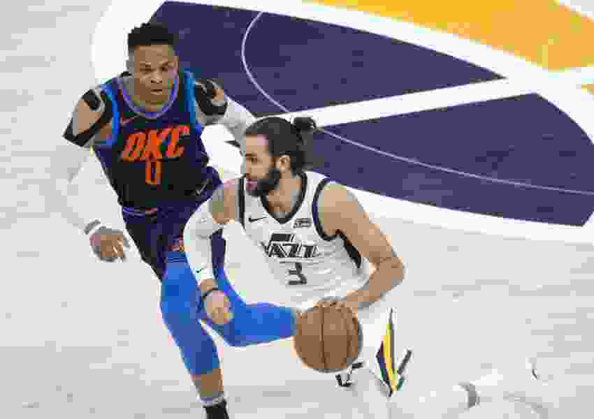 Jazz's third-quarter meltdown in OKC stems largely from Gobert's foul trouble