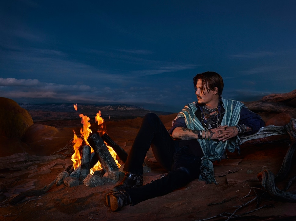 (Image courtesy Parfums Christian Dior) Actor Johnny Depp is the star in a commercial for Christian Dior's men's fragrance Sauvage, filmed in southeast Utah.
