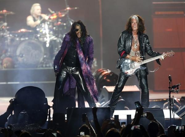 AP file photo Aerosmith's Steven Tyler and Joe Perry