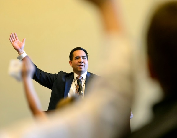 (Steve Griffin | The Salt Lake Tribune) Utah Attorney Sean Reyes speaks to students during an event hosted by the Utah College Republicans in the State Capitol in Salt Lake City Thursday, Feb. 8, 2018.