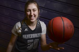(Leah Hogsten  |  The Salt Lake Tribune) Riverton High School senior basketball player Morgan Kane, Wednesday, Feb. 14, 2018. She's the team's star center and plans to play at Iowa State next year.