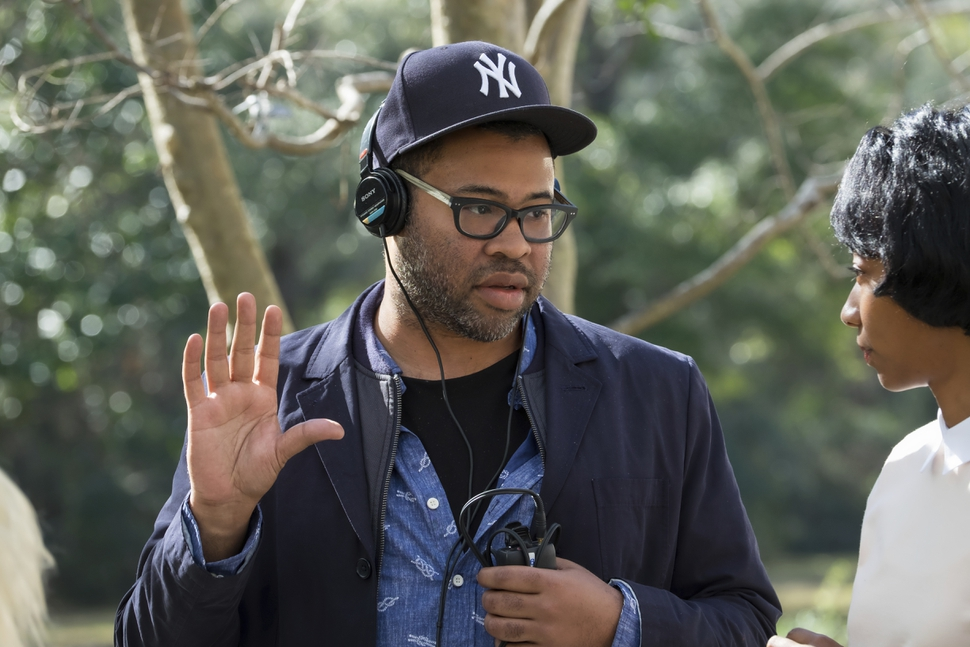 This image released by Universal Pictures shows director Jordan Peele on the set of Get Out. Peele was nominated for an Oscar for best director, Tuesday, Jan. 23, 2018. The 90th Oscars will air live on ABC on Sunday, March 4. (Justin Lubin/Universal Pictures via AP)