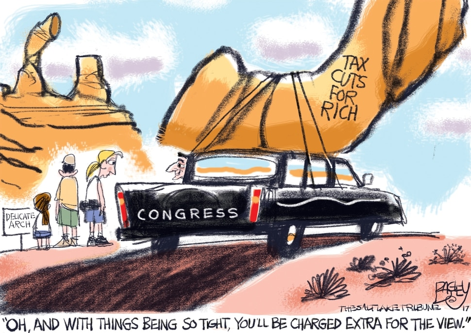 (Pat Bagley | The Salt Lake Tribune) This Pat Bagley cartoon, titled Arch Conservatives, appears in The Salt Lake Tribune on Sunday, Oct. 29, 2017.