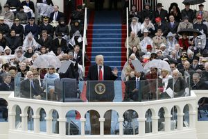 (Patrick Semansky | AP file photo)  In this Jan. 20, 2017, photo, President Donald Trump delivers his inaugural address after being sworn in as the 45th president of the United States during the 58th Presidential Inauguration at the U.S. Capitol in Washington.