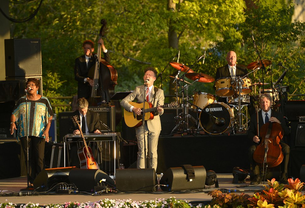 (Leah Hogsten | Salt Lake Tribune file photo) Lyle Lovett & His Large Band, seen here performing at Red Butte Garden in 2014, will return to Red Butte on July 14, 2019.