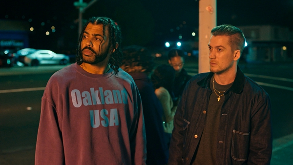 (Lionsgate via Associated Press) Rafael Casal, right, and Daveed Diggs in a scene from