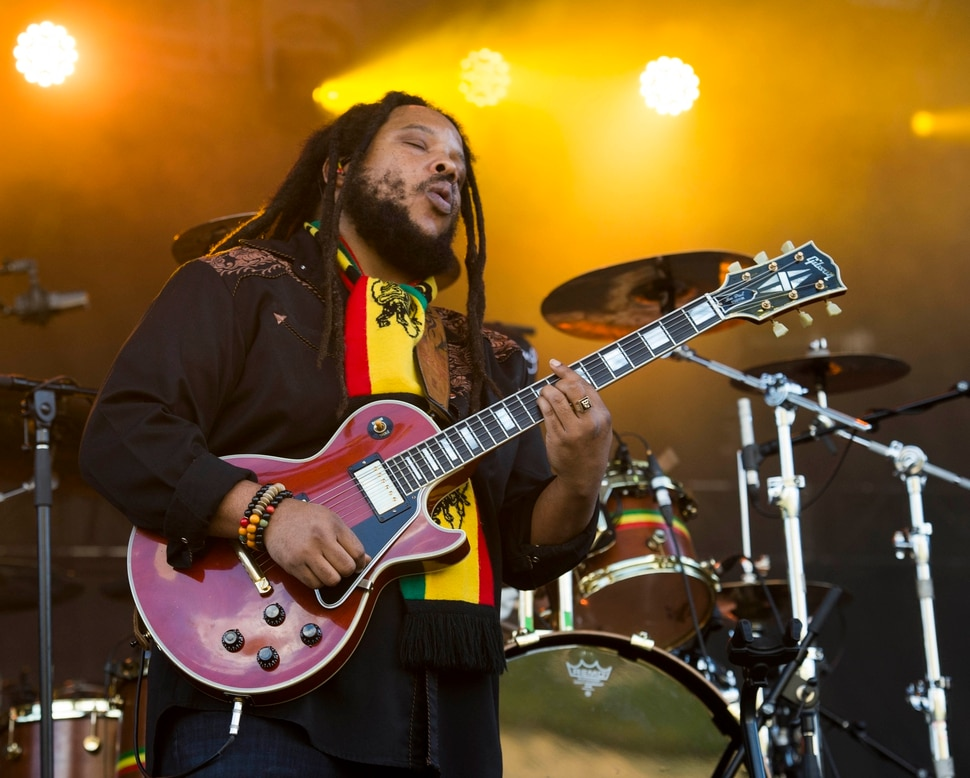 (Rick Egan | The Salt Lake Tribune) Stephen Marley plays the Reggae Rise Up Festival at the Rivers Edge in Heber City, Friday, Aug. 24, 2018.